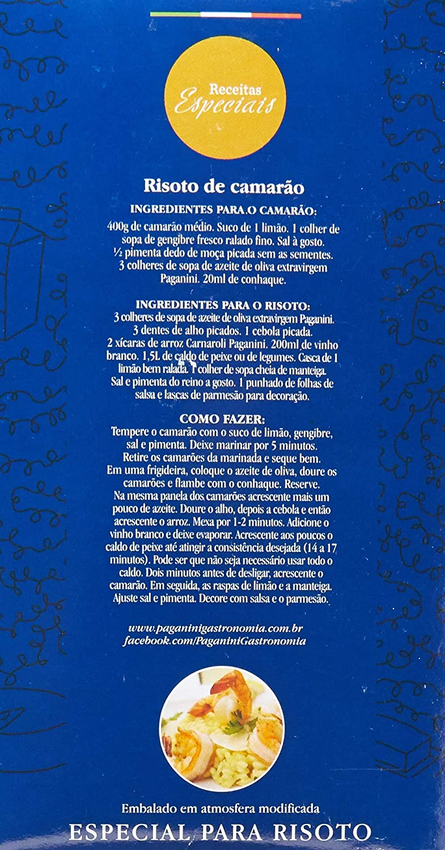 Arroz Arbório PAGANINI 1 Kg ( 3 unidades )