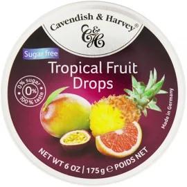 Bala CAVENDISH & HARVEY Sem Açucar Tropical Fruit 175g