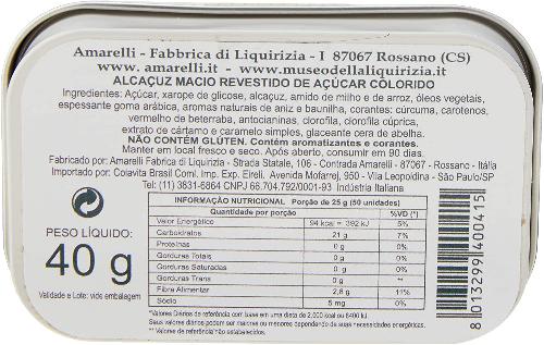 Bala de Alcaçuz Puro Black Label AMARELLI 40g