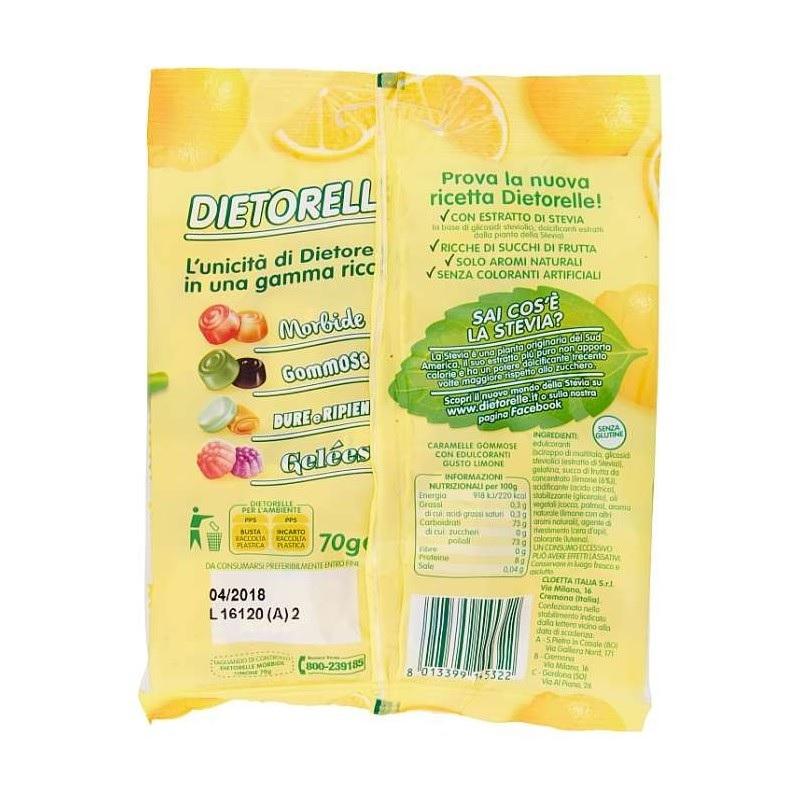 Bala de Goma de Limão com Stevia DIETORELLE 70g