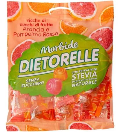 Bala de goma Laranja e Grapefruit DIETORELLI 70g