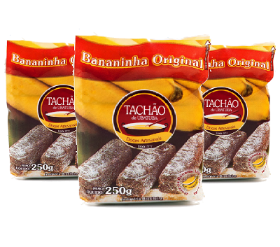 Bananinha Original TACHÃO DE UBATUBA 250g ( 3 und )