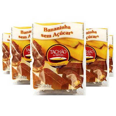 Bananinha Sem Acúcar TACHÃO DE UBATUBA 200g ( 5 und )
