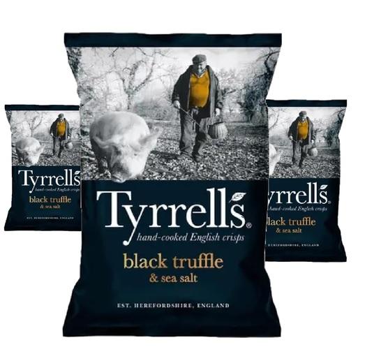 Batata Chips com Trufa Negra TYRRELLS 150g (3 und)