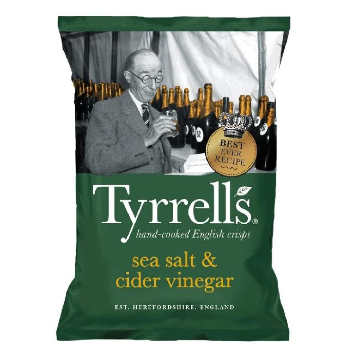 Batata Chips Vinagre TYRRELLS 150g