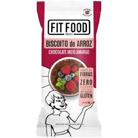 Biscoito de Arroz Chocolate Meio Amargo FIT FOOD 60g