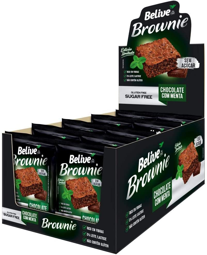 Brownie BeLive Chocolate com Menta Zero 10x40g