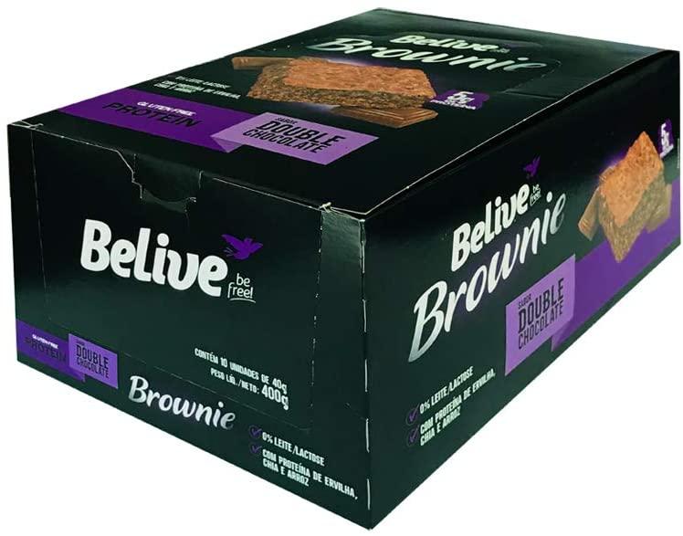 Brownie BeLive Double Choc Protein Sem Gluten 10X40g