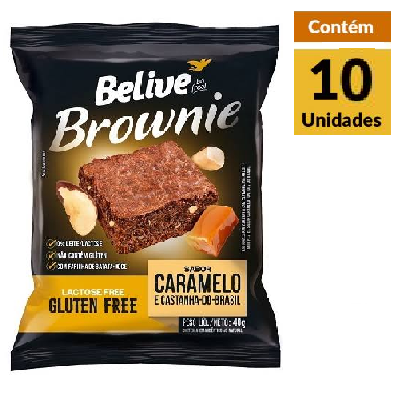 Brownie Caramelo BELIVE Display 10x40g