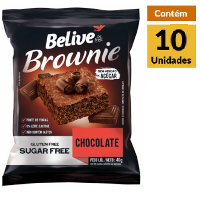 Brownie Chocolate Zero BELIVE 10x40g