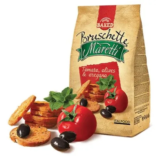 Bruschetta MARETTI Tomato, Olive e Orégano 85g