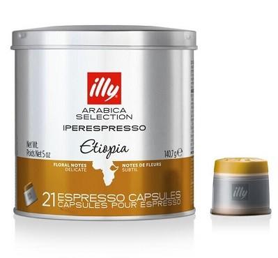 Café Illy Cápsula iperEspresso 21 und Etiopia 140,7g