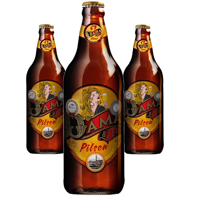 Cerveja Artesanal DAMA Bier Pilsen 600ml (3 unidades)