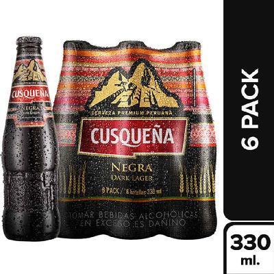 Cerveja CUSQUENA Dark Lager Pack 6x330ml