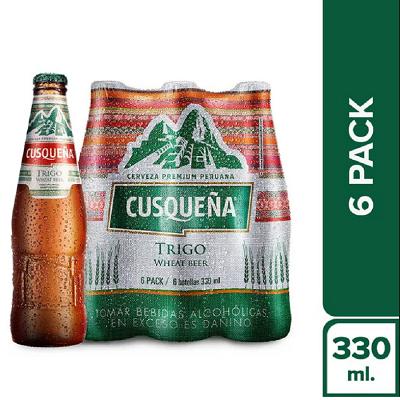 Cerveja CUSQUENA de Trigo Pack 6x330ml