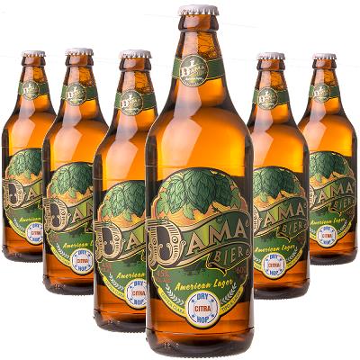 Cerveja DAMA Bier American Lager 600ml ( 6 unidades )
