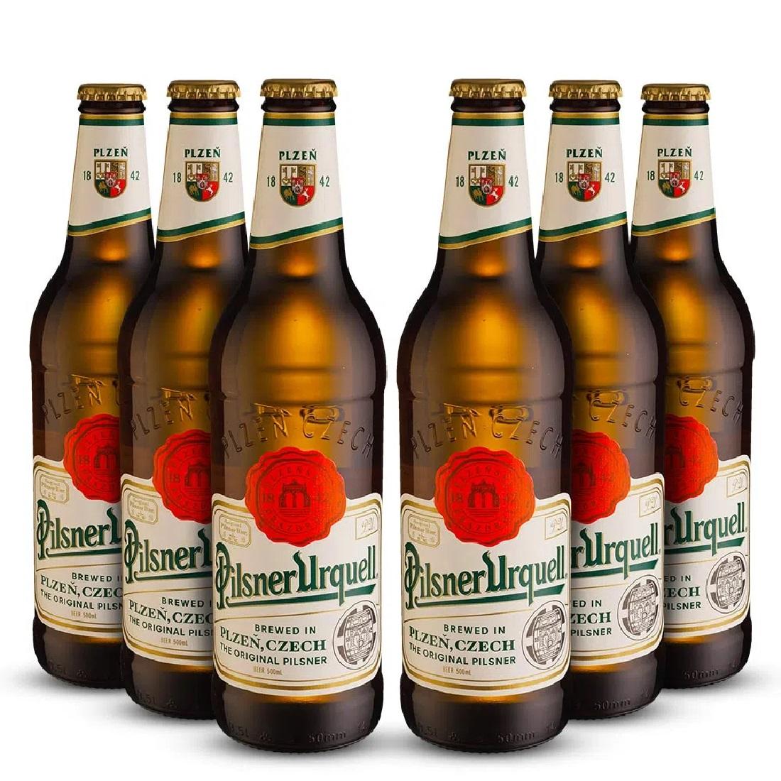 Cerveja Tcheca Pilsner Urquell 500ml (6 Unidades)