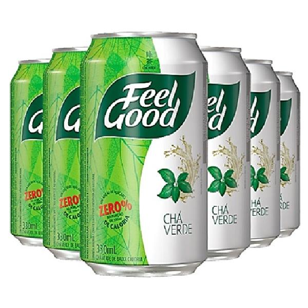 Chá Verde FEEL GOOD Lata 330ml (6 unidades)