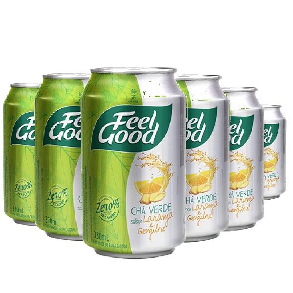 Chá Verde Laranja e Gengibre FEEL GOOD 330ml (6 und)