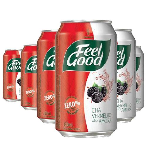 Chá Vermelho Sabor Amora FEEL GOOD 330ml (6 und)
