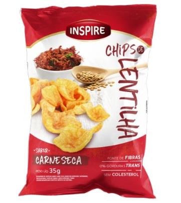 Chips de Lentilha INSPIRE Carne Seca 35g