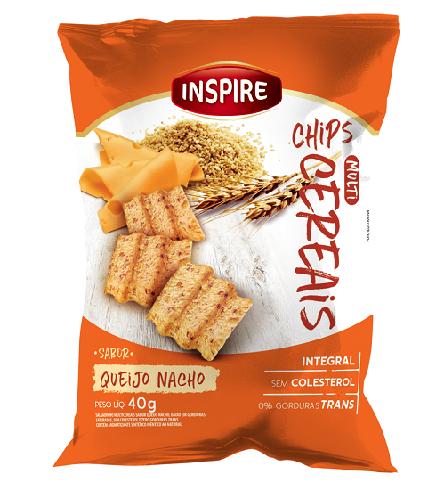 Chips Multi Cereais INSPIRE Queijo Nacho 40g