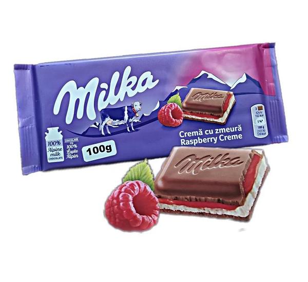 Chocolate MILKA Raspberry Cream 100g