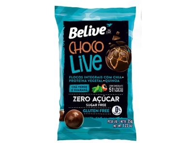 Chocolive BELIVE Zero Chá Verde 12x35g