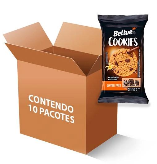 Cookies BELIVE Baunilha com Chocolate Display 10x34g