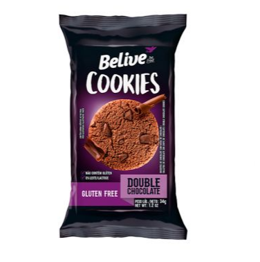 Cookies BELIVE Double Chocolate Display 10x34g