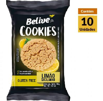 Cookies BELIVE Limão Siciliano Display 10x34g