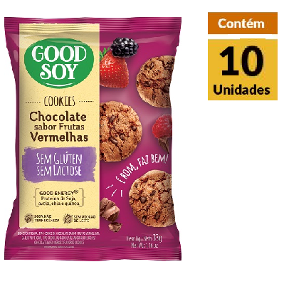 Cookies GOODSOY Frutas Vermelhas Display 10x33g