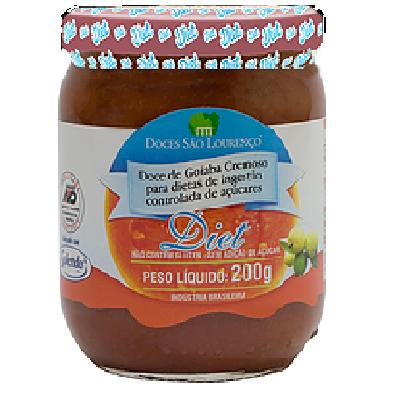 Doce de Goiaba Diet Cremoso SÃO LOURENÇO 210g