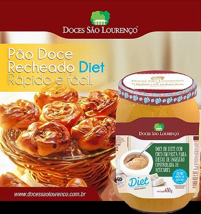 Doce de Leite Diet SÃO LOURENÇO 650g ( 10 und )