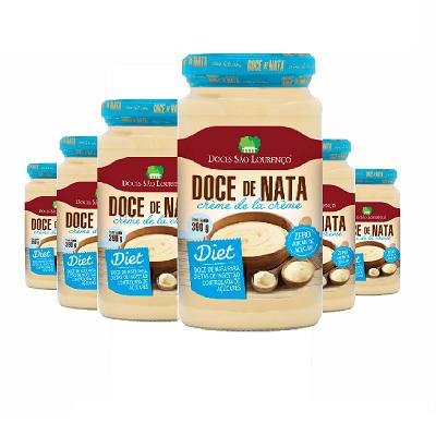 Doce de Nata Diet SÃO LOURENÇO 390g ( 6 unidades )