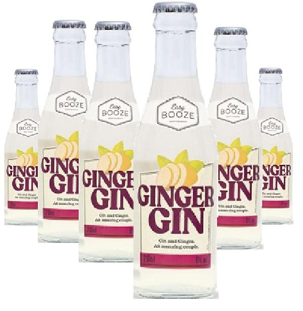 Easy Booze Ginger Gin 200ml ( 6 unidades )