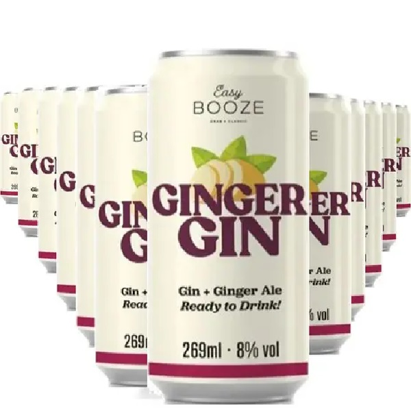 Easy Booze Lata Gin+ginger 269ml (12 Unidades)