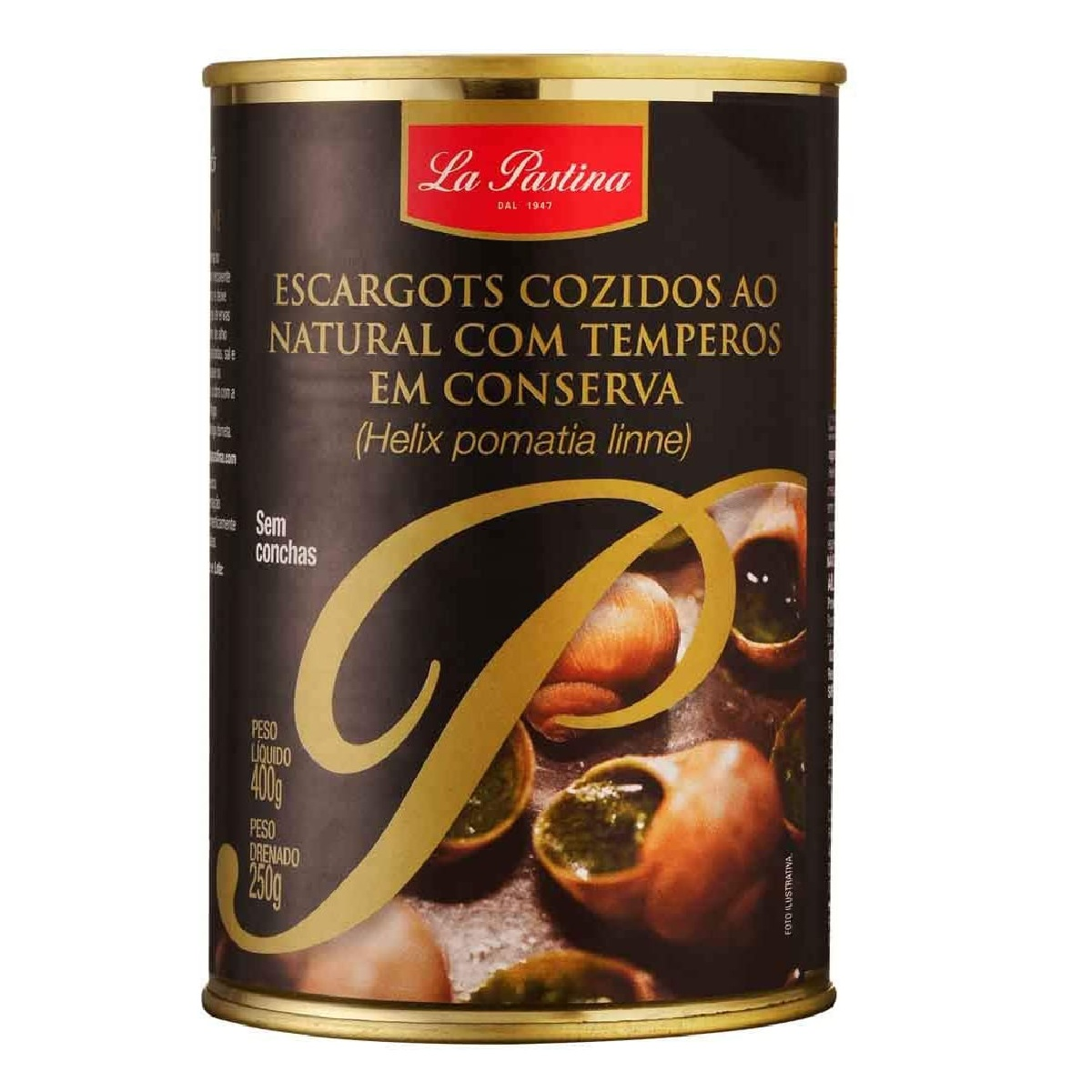 Escargot Frances La Pastina Sem Concha 48 Unid 250g