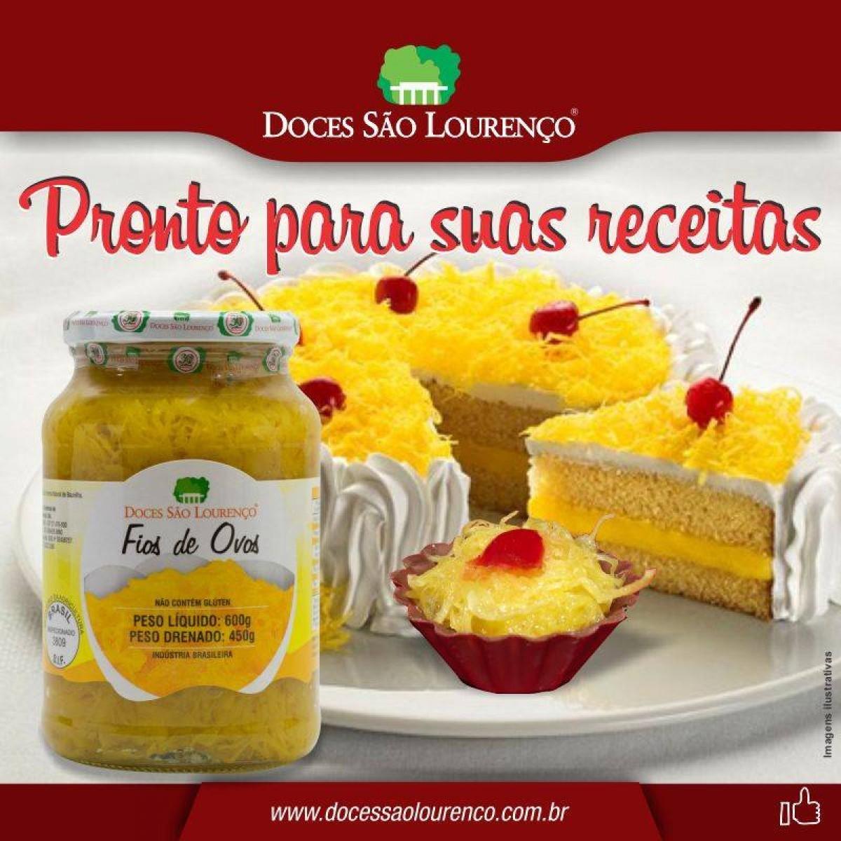 Fio de ovos SÃO LOURENÇO 450g ( 3 und )