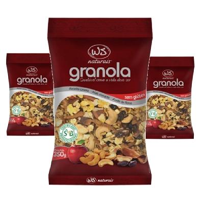 Granola sem Gluten WS NATURAIS 350g ( 3 und )