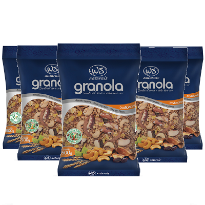 Granola Tradicional WS NATURAIS 500g ( 5 und )