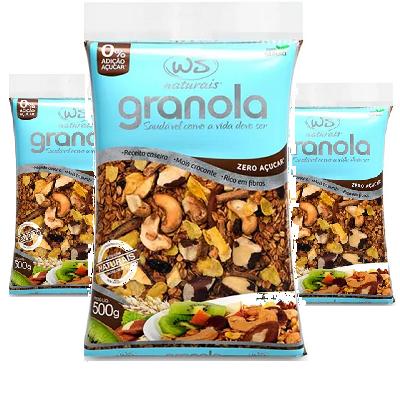Granola Zero WS NATURAIS 500g ( 3 und )