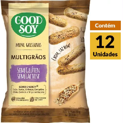 Grissini Multigrãos GOODSOY Display 12X30g