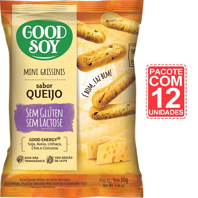 Grissini Queijo GOODSOY Display 12x30g