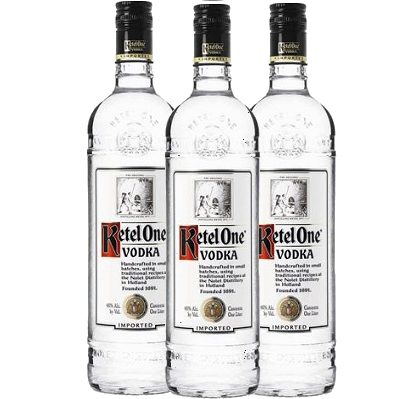 kit 3 und VodKa Holandesa KETEL ONE 1 Litro