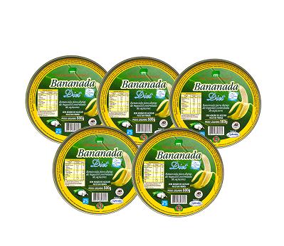 Kit 5 und Bananada Diet Lata SÃO LOURENÇO 500g