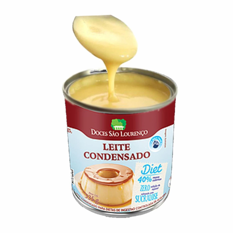 Kit 8 und Leite Condensado Diet SÃO LOURENÇO 335g