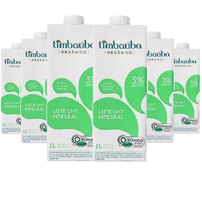 Leite Orgânico Integral TIMBAUBA 1 Litro ( 6 unidades )
