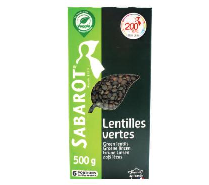 Lentilhas Verdas da Franca SABAROT 500g