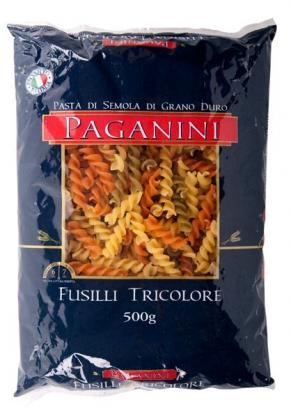 Macarrão Italiano Fusilli Tricolore PAGANINI 500g